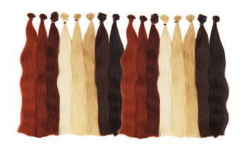 Gewelltes Haar in den Längen 35-40 cm und 50-60 cm