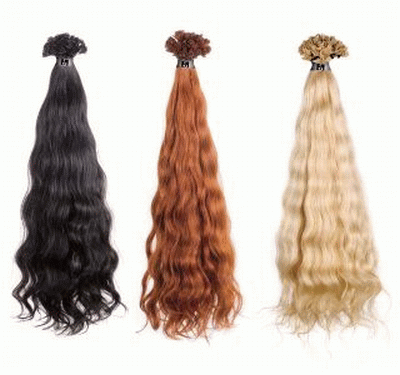 Gelocktes Haar in den Längen 35-40 cm und 50-60 cm