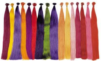 glattes Haar, Farbbeispiele